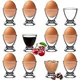 Platinux Set de coquetiers en verre pour œufs Moderne Lot de 12 coquetiers