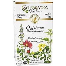 Celebration Herbals - Té herbario floreciente verde descafeinado orgánico de Oatstraw - 24Bolsitas de té