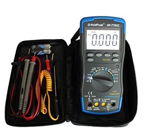 Multimeter HP-770HC, True RMS, NCV, Fehlbedienungssperre, Stromzangenanschluss