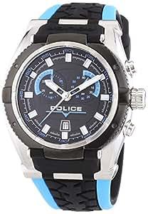 Police Herren-Armbanduhr XL ROAD RACE Chronograph Quarz Silikon P14215JSTB-02