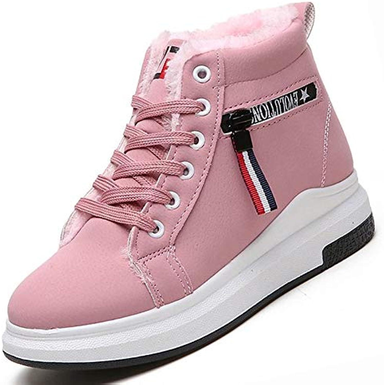 zhznvx zhznvx zhznvx des chaussures automne hiver (polyuréthanne), du confort des baskets croûton tour orteil noir / Rose  parent b07h1cypj9 15551c