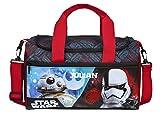 Sporttasche mit Namen | Motiv Starwars in schwarz, blau & rot | inkl. Namensdruck | kleine...