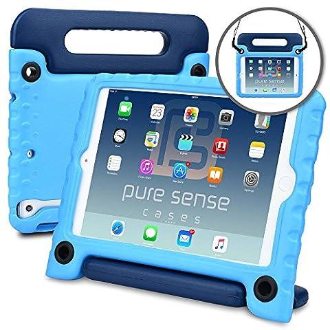 Coque pour enfant Apple iPad Mini 1/2/3, PURE SENSE BUDDY étui transportable robuste antimicrobienne et antibactérienne solide à bandoulière + poignée, support, protecteur d'écran