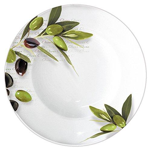 Pastateller GREEN OLIVES Ø 27 cm OLIVE/ppd / Speiseteller/Suppenteller Olive Green Teller