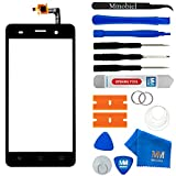 MMOBIEL Écran/vitre tactile (digitizer) de rechange pour Wiko Lenny 3 (Noir) 5.0 Inch Front Display Replacement Assembly Incl. Pre Installed Adhesives and Tool kit
