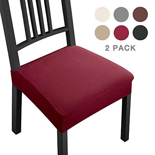 Coprisedie con 2 pezzi moderno coprisedia elastico coprisedia seduta coprisedia antimacchia coprisedia molto facile da pulire e di lunga durata per la sala da hotel,ristorante decor(2 pezzi,bordeaux)b