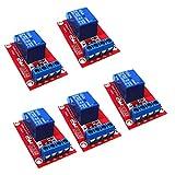 Baoblaze 5 Stücke 1 Kanäle 3V DC Relais Modul Brett für Arduino mit Optokoppler Verstärker