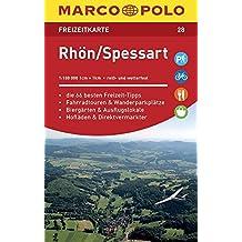 MARCO POLO Freizeitkarte Rhön, Spessart 1:100 000