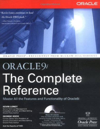 Oracle9i The Complete Reference (Osborne Oracle Press Series) por Kevin Loney