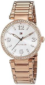 Tommy Hilfiger-Reloj de pulsera analógico para mujer cuarzo, revestimiento de acero inoxidable 1781590