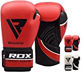 RDX Hexogen Boxing Gloves Muay Thai Training Maya Hide Leather Sparring Punching Bag Mitts kickboxing Fighting
