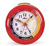 SET: Kinderwecker + Armbanduhr Mädchen Rot Analog Lernwecker Licht Kinderuhr - Atlanta 1265-1 KAU hergestellt von Atlanta