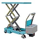 Doppelscheren-Hubtischwagen Ameise, elektrisch, Tragkraft 350 kg - robuster Hubtischwagen in Ameise-Qualität mit Doppelschere - für ein feinfühliges, schnelles Heben auf optimale Arbeitshöhe