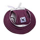 Alxcio Haustier Hunde Hüte Katze Kätzchen Prinzessin Gurt Hut Kappe Hat Sunbonnet für Klein Mittel Hunde Größe S (Lila für Mädchen)