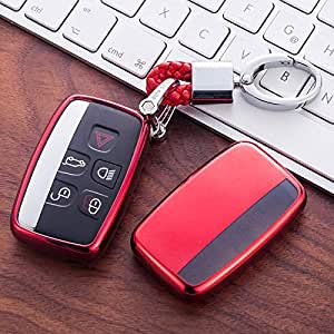 with key chain Rose Gold Key Cover Case for Range Rover Smart Remote Fob 5 Button Sport Evoque Vogue LR4 iscovery 4 Land Rover Shell With Key Chain