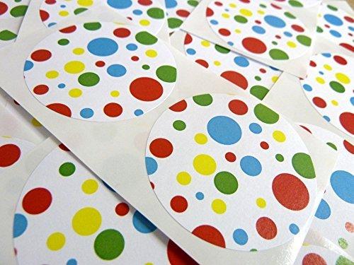 50 Adhesivo Lunares Manchado Manchada Patrón De colores Etiquetas , 50mm Circular, Adhesivos , 2 pulgadas Redondo Circular , Teñido Código De Color , auta-adhesivo