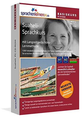 Suaheli-Basiskurs mit Langzeitgedächtnis-Lernmethode von Sprachenlernen24: Lernstufen A1 + A2. Suaheli lernen für Anfänger. Sprachkurs PC CD-ROM für Windows 10,8,7,Vista,XP / Linux / Mac OS X