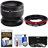 #8: Olympus TCON-T01 Telephoto Converter Lens & CLA-T01 Adapter Ring Pack for Tough TG-3, TG-4 & TG-5 Camera with 3 UV/CPL/ND8 Filters Kit
