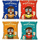POPMAN Popcorn Pack of 4