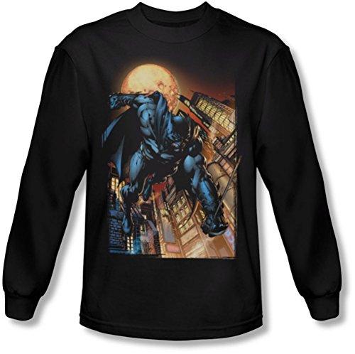 Batman - - Herren The Dark Knight # 1 Langarm-Shirt in Schwarz Black