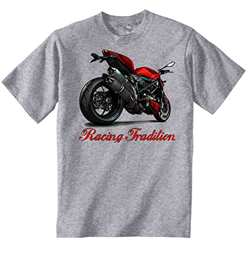 TEESANDENGINES Ducati Streetfighter Inspired Camiseta Gris para Hombre de Algodon Size Small