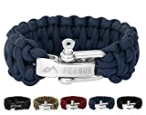 PEAQUE Survival Armband aus Paracord - inkl. eBook - verstellbarer