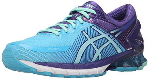 Asics Womens Gel-Kinsei 6 Running Shoe Turquoise/Aqua Mint/Purple