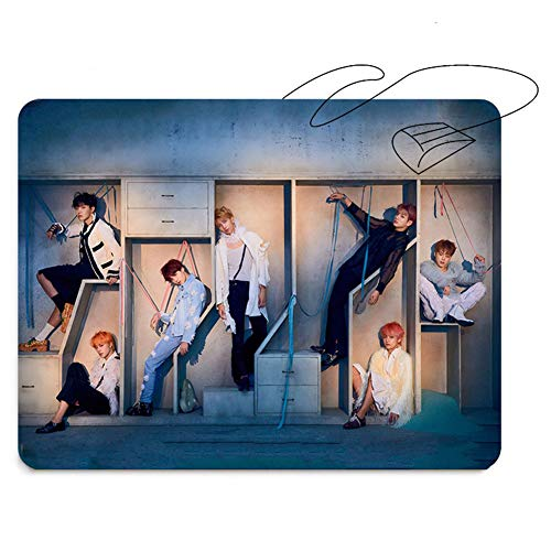 (Yovvin BTS Mauspad, Kpop Bangtan Jungen [Love Yourself 結 Answer] Jungkook Jimin V Suga Jin J-Hope Rap Monster Mouse Pad für The Army(Style 02))