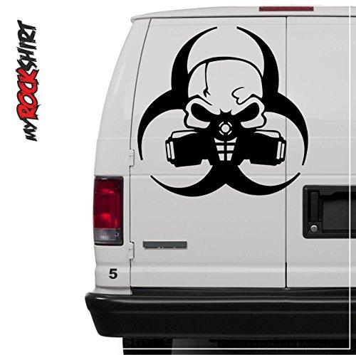 Biohazard Gasmaske Atemschutzmaske 60 cm Truck Trucker Aufkleber Anhänger Sticker `+ Bonus Testaufkleber