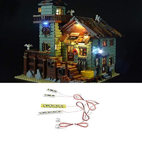 LED Beleuchtung Licht-Set Universal für Lego Ideen Old Fishing Store 21310 LED-Beleuchtungsset DIY Leuchtende Bausteine Zubehör (Modell Nicht Enthalten)