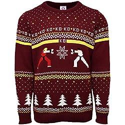 Official Street Fighter Ken Vs. Ryu Christmas Jumper/Ugly Sweater UK 2XL/US XL