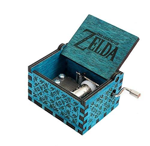 f Zelda Film Thema Antik Carved Musik Box Handkurbel aus Holz Spieluhr Spielzeug ()