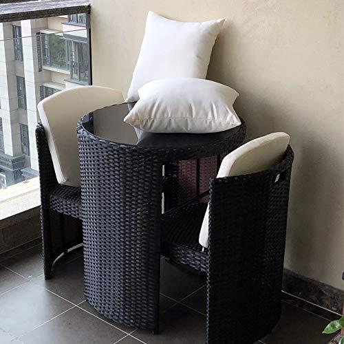Weave Balkon Tisch Stuhl Freizeit Rohrstuhl Teetisch Innenhof Rattan-Möbel Tisch Und Stuhl...
