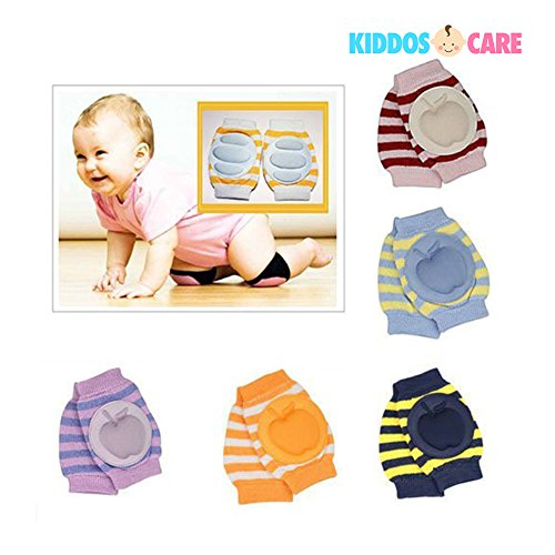 KiddosCare Crawling Elbow Cushion Infants Toddlers Baby Knee Pads Protector (Assorted Color) (Pack of 2).
