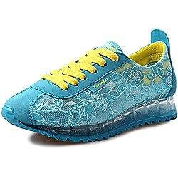 Wilder Sommer Modeschuhe/Lässige Turnschuhe/Komfort atmungsaktive Schuhe-blau Fußlänge=24.8CM(9.8Inch)