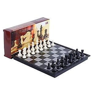 Internationales Schachspiel Magnetisches Schachspiel Klappbrett Handgefertigte tragbare Reise-Schachspiel-Sets mit…