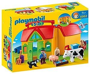 Playmobil 1.2.3 Playmobil Farm 1.2.3 Granja Maletín, A partir de 1,5 años, 6962