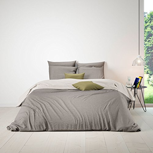 Bettwaren-Shop Wendebettwäsche taupe light beige Kissenbezug einzeln 80x80 cm