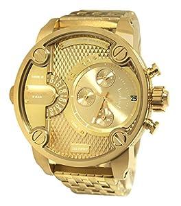 Diesel DZ7287 - Reloj cronógrafo de cuarzo para hombre, correa de acero inoxidable chapado color dorado de Diesel