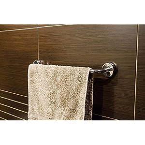 Kapitan baño Toallero de Mano 40 cm Acero Inoxidable Pulido Toallero de Barra Fijar Sin Taladrar 3M VHB Cinta Adhesiva…