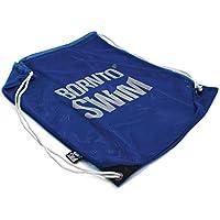 Bormioli nto Swim Malla Bolsa para el Equipo de natación Natación Funda con cordón, Color Azul/Blanco, tamaño Large