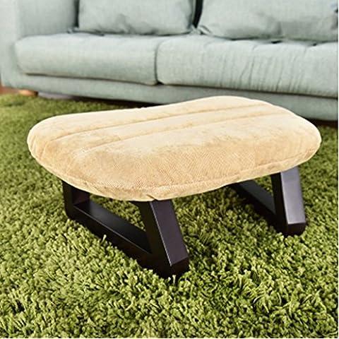 Moda Sgabello Tatami Solid sgabello di legno creativo piccolo sgabello poggiapiedi Sgabello panno Divano Sgabello per i pattini Sgabello ( colore : Beige )