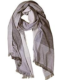 FERETI Echarpe de soie pour homme Beige Marron très douce e chaude Tissu  double ... 3116d3c41fa