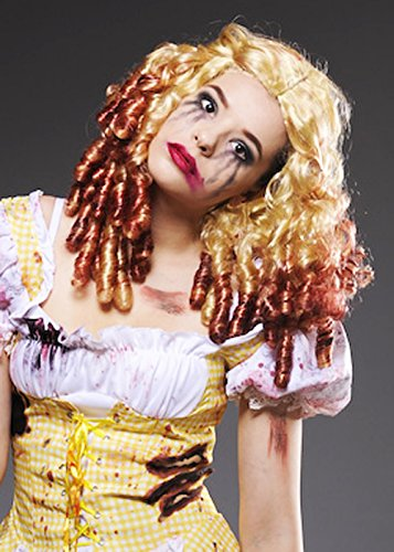 Womens Gothic Zombie Goldilocks Blonde Perücke