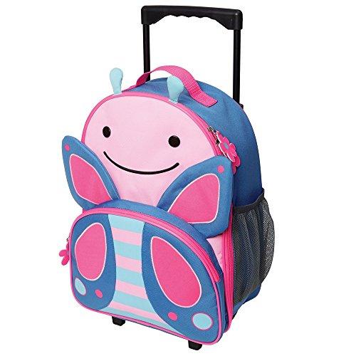 Preisvergleich Produktbild Skip Hop Zoo Luggage, Reisetrolley für Kinder, mit Namensschild, mehrfarbig, Schmetterling Blossom