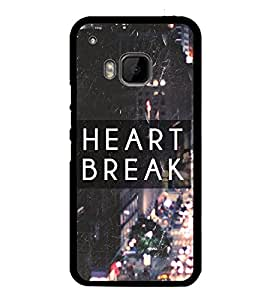 Fuson Premium 2D Back Case Cover Broken heart With Multi Background Degined For HTC One M9::HTC M9::HTC One Hima