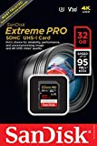 SanDisk Extreme PRO 32 GB SDHC Memory Card, Up to 95 MB/s, Class 10, U3, V30