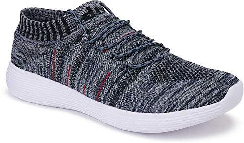 T-Rock Men's Socks Grey Light Weight Sports Shoes (9)