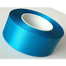 25 m x 40 mm satén SCHLEIFENBAND azul - banda decorativa cinta de raso de color turquesa