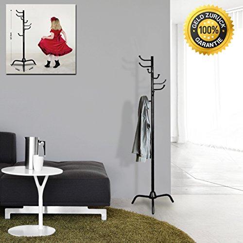 Gaderobenständer Metall Schwarz Baum Garderobe Ständer Kleiderständer Kinder Stabil Belastbar Fahrbar Modern Für Büro Bad